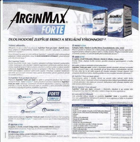 Příbalový leták ArginMax