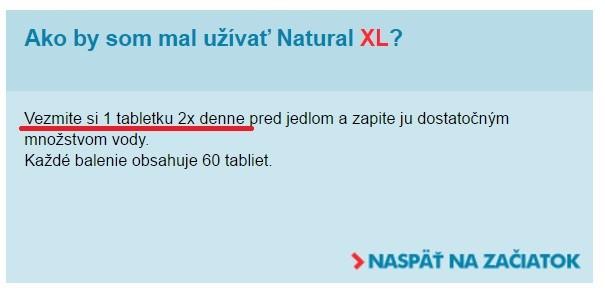 užívání ze stránky Natural XL