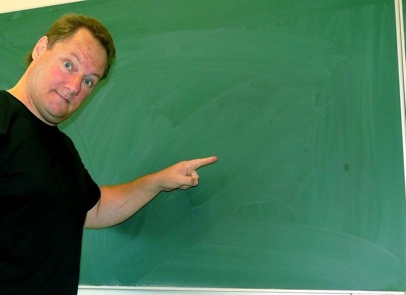 zlý učitel