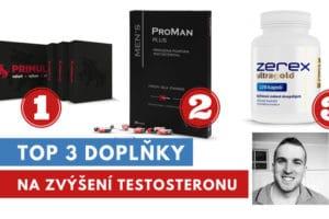 Top 3 doplňky pro podporu testosteronu
