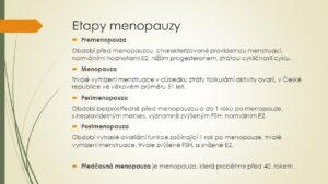etapy menopauzy