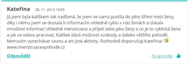 forum o menstruačním kalíšku