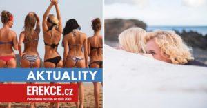 žena se stydí na nuda pláži