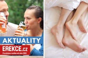 alkohol před sexem