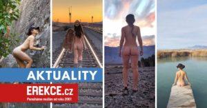 cestovatelka se fotí nahá