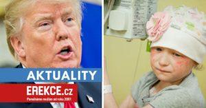 Trump slibuje léčbu AIDS a rakoviny