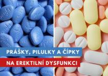 prášky, pilulky a čípky na erektilní dysfunkci