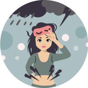 príznaky a prejavy PMS