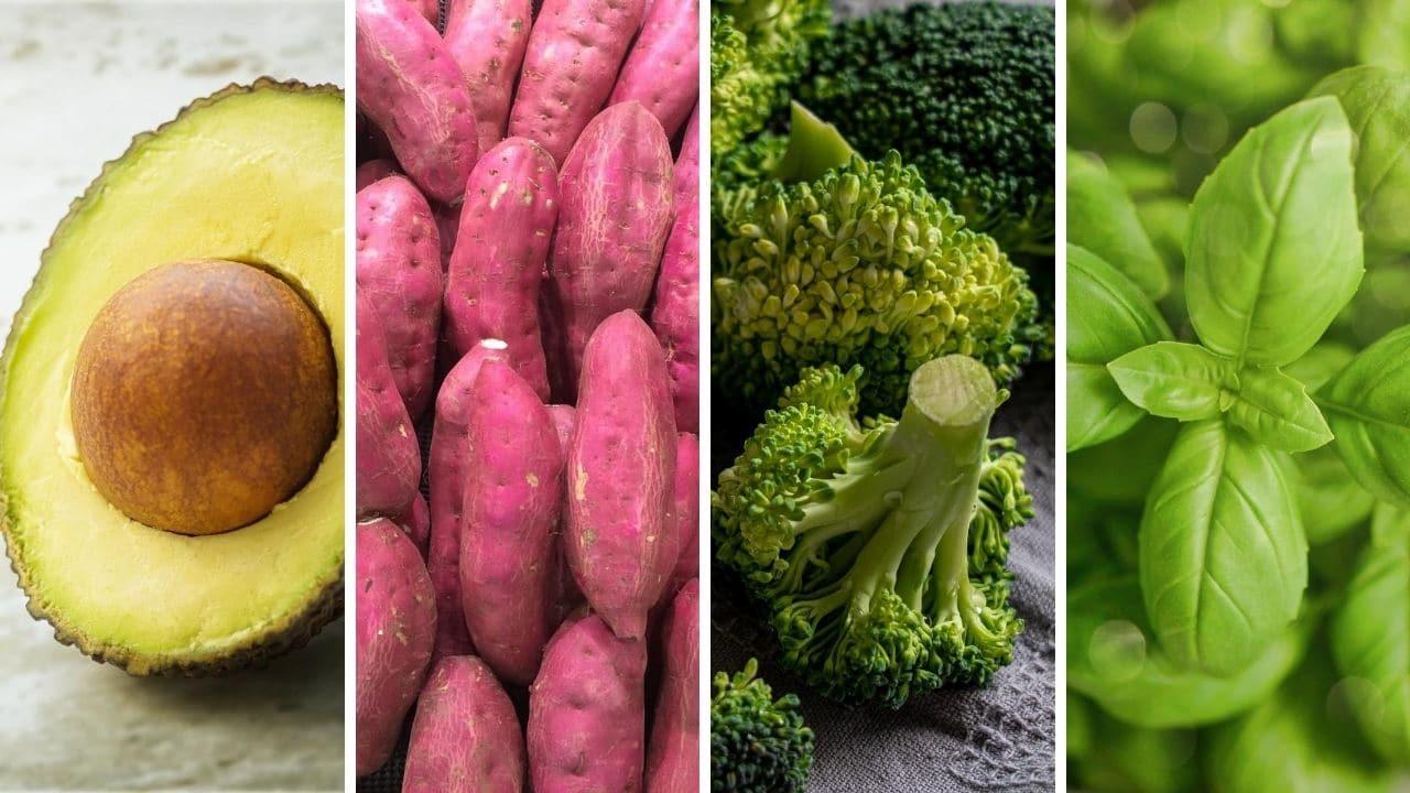 avokádo, batáty, brokolice a bazalka pro podporu libida