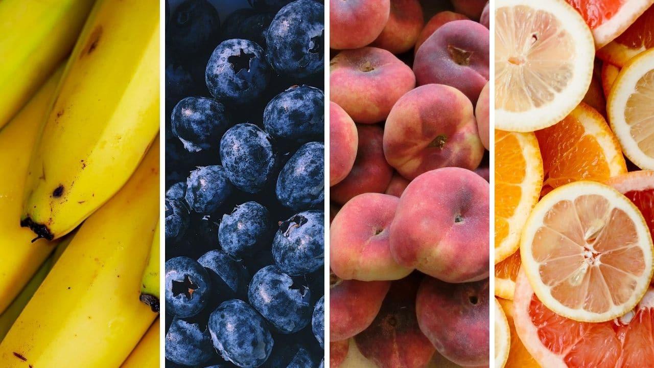 banány, borůvky, broskve a citrusy pro podporu libida
