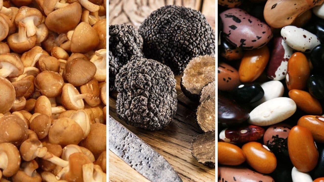 shitake, lanýže a fazole pro podporu libida