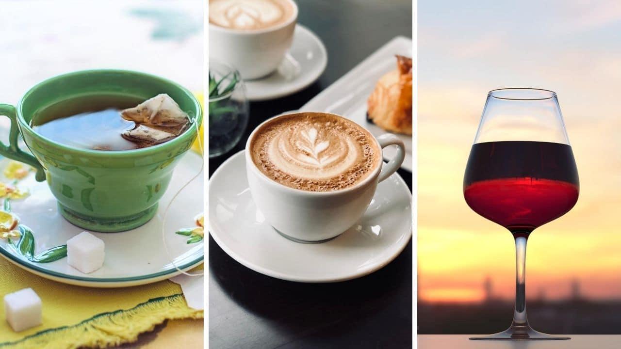 zelený čaj, káva a červené víno pro podporu libida